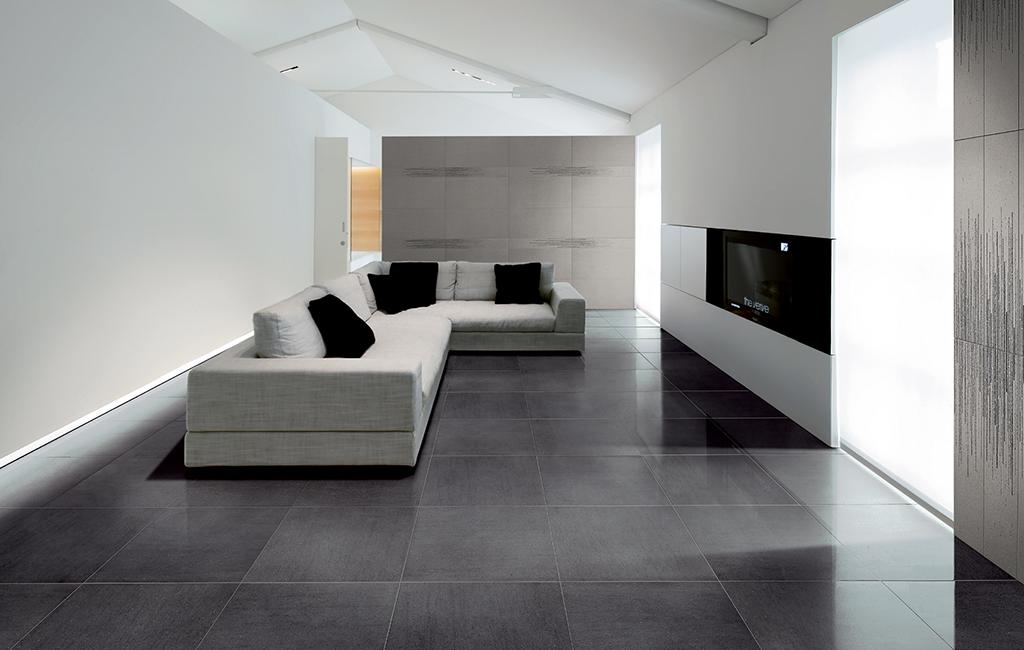Amazing st copia pavimenti interni gres effetto pietra for Pavimenti grigi